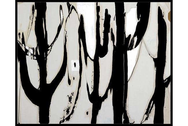 52X42 Desert Trees With Black Frame  - 360