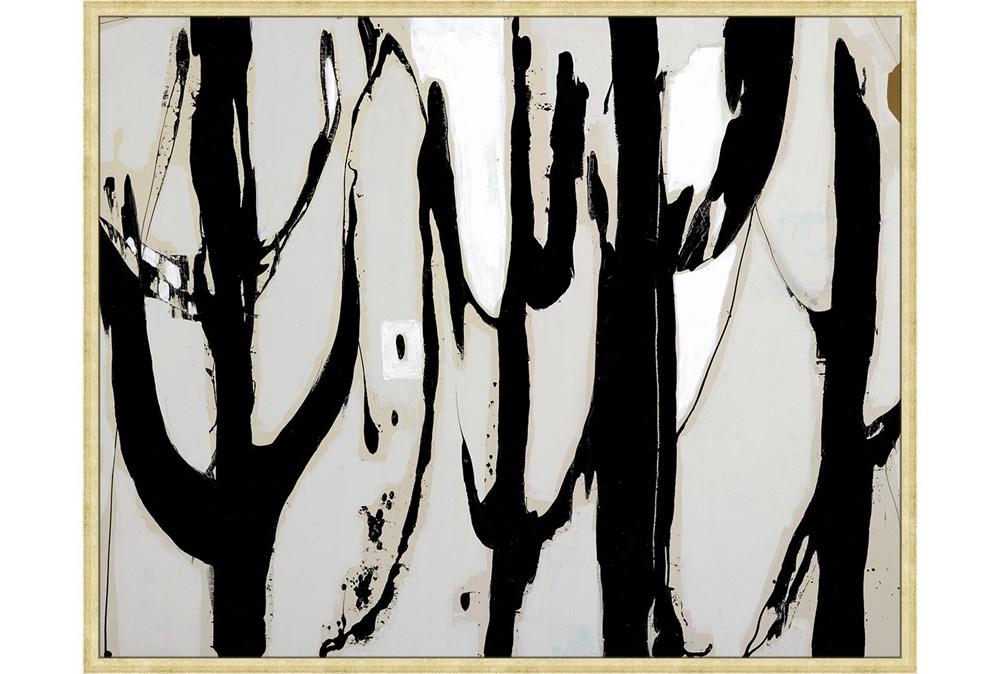 52X42 Desert Trees With Bronze Gold Frame
