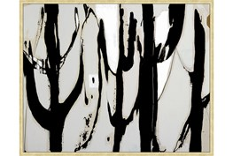 52X42 Desert Trees With Gold Frame