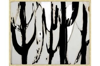 42X52 Desert Trees With Gold Frame