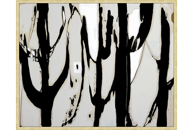 52X42 Desert Trees With Bronze Gold Frame - 360