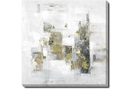 36X36 Abstract Golden Touch With Gallery Wrap Canvas