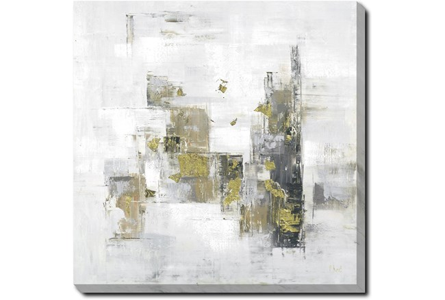 45X45 Abstract Golden Touch With Gallery Wrap Canvas - 360