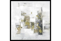 26X26 Abstract Golden Touch With Black Frame