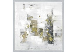 26X26 Abstract Golden Touch With Silver Frame