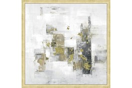 26X26 Abstract Golden Touch With Bronze Gold Frame