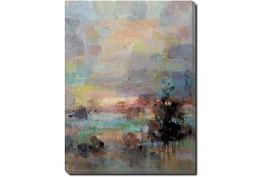30X40 Colors Of Dusk I With Gallery Wrap Canvas