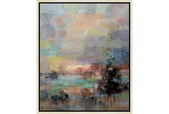 22X26 Colors Of Dusk I With Birch Frame