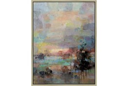 32X42 Colors Of Dusk I With Champagne Frame