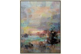 32X42 Colors Of Dusk I With Birch Frame