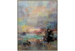 42X52 Colors Of Dusk I With Birch Frame
