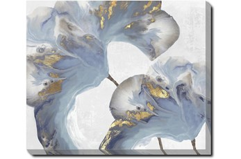 20X24 Flowing Floral I With Gallery Wrap Canvas