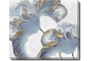24X20 Flowing Floral I With Gallery Wrap Canvas
