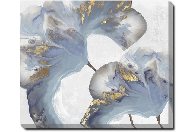 24X20 Flowing Floral I With Gallery Wrap Canvas - 360