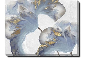 40X30 Flowing Floral I With Gallery Wrap Canvas
