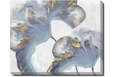 50X40 Flowing Floral I With Gallery Wrap Canvas