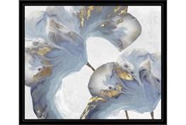 26X22 Flowing Floral I With Black Frame