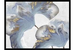 42X32 Flowing Floral I With Black Frame