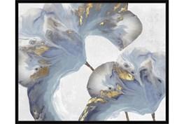 42X52 Flowing Floral I With Black Frame
