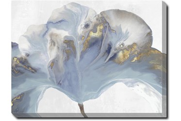 40X30 Flowing Floral II With Gallery Wrap Canvas