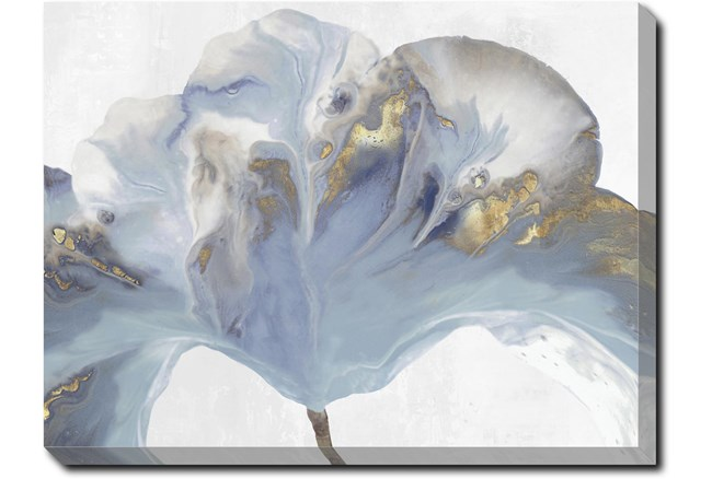 40X30 Flowing Floral II With Gallery Wrap Canvas - 360