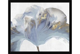 26X22 Flowing Floral II With Black Frame