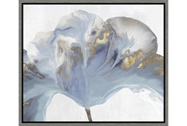 26X22 Flowing Floral II With Grey Frame