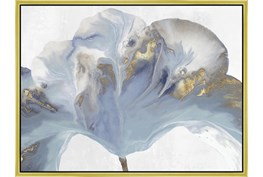 32X42 Flowing Floral II With Gold Frame