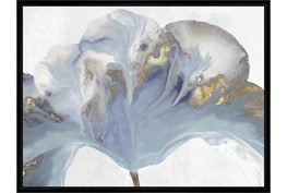32X42 Flowing Floral II With Black Frame