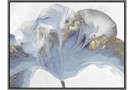 32X42 Flowing Floral II With Grey Frame