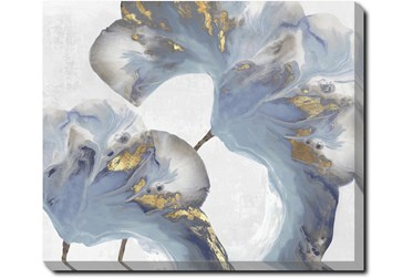 24X20 Flowing Floral III With Gallery Wrap Canvas