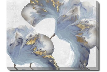 40X30 Flowing Floral III With Gallery Wrap Canvas
