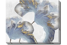 50X40 Flowing Floral III With Gallery Wrap Canvas