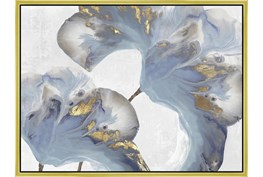 32X42 Flowing Floral III With Gold Frame