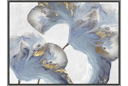 32X42 Flowing Floral III With Grey Frame