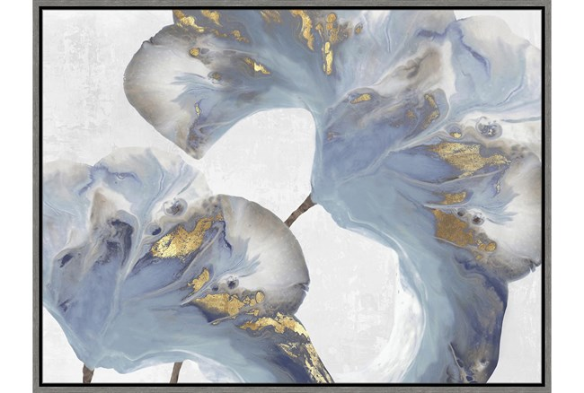 32X42 Flowing Floral III With Grey Frame  - 360
