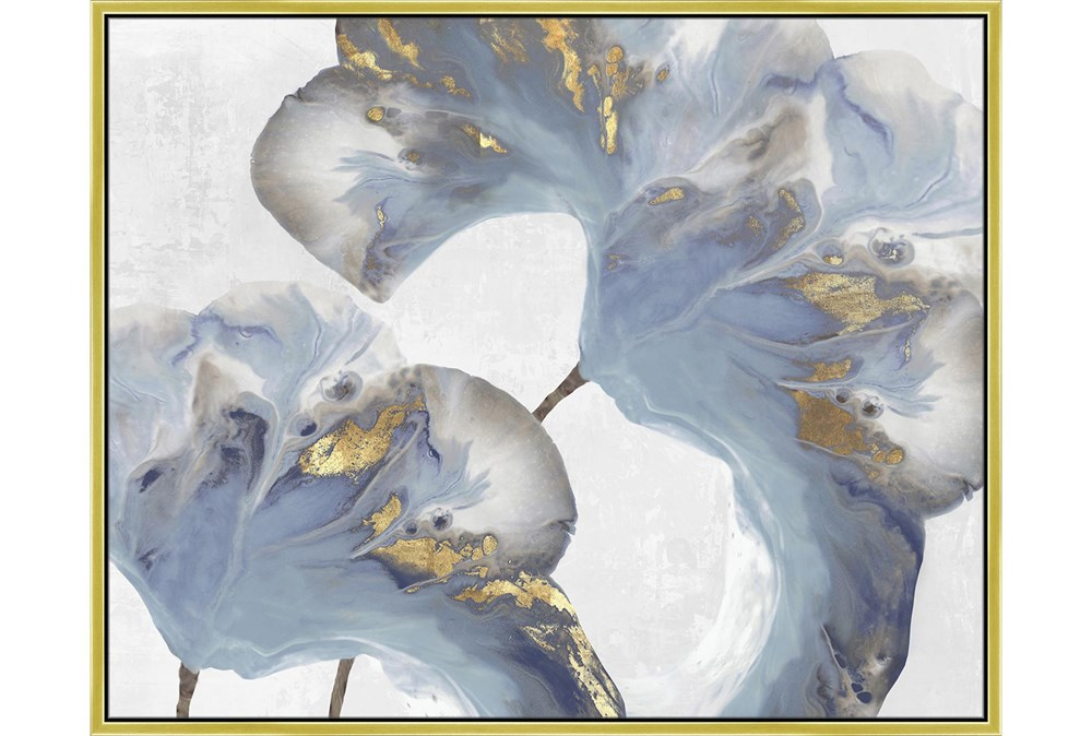42X52 Flowing Floral III With Gold Frame