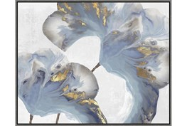 42X52 Flowing Floral III With Grey Frame