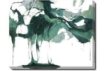 50X40 Abstract Emerald Isle With Gallery Wrap Canvas