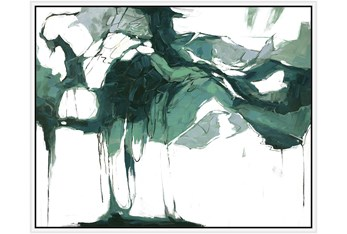 52X42 Abstract Emerald Isle With White Frame