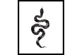 22X26 B&W Snake 1 With Black Frame
