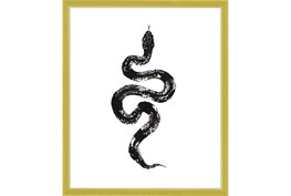 22X26 B&W Snake 1 With Gold Frame