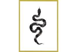 32X42 B&W Snake 1 With Gold Frame