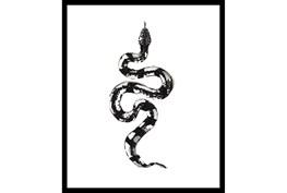 22X26 B&W Snake 2 With Black Frame