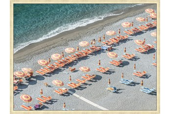 42X32 On Positano Time With Champagne Frame