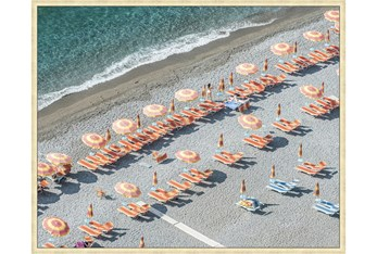 52X42 On Positano Time With Champagne Frame