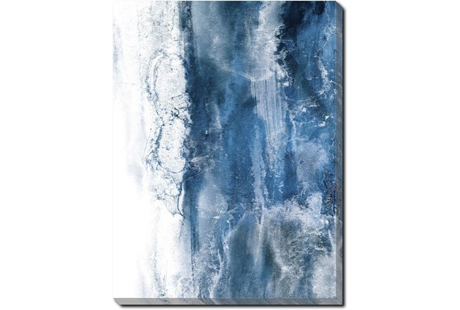 30X40 Abstract Ocean's Breath With Gallery Wrap Canvas - 360