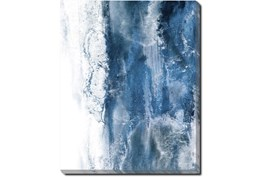 40X50 Abstract Ocean's Breath With Gallery Wrap Canvas