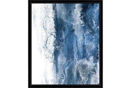22X26 Abstract Ocean'S Breath With Black Frame