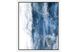 22X26 Abstract Ocean'S Breath With White Frame